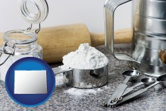 colorado baking equipment, flour, and salt