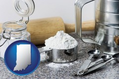 indiana baking equipment, flour, and salt